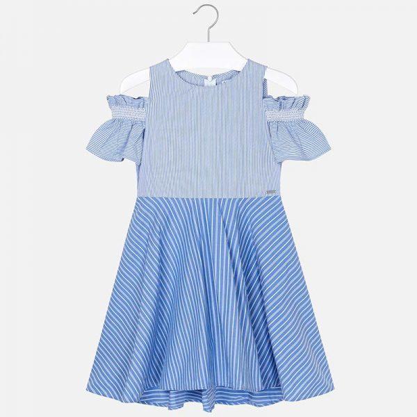 Dievčenské šaty pruhované modré Mayoral | Welcomebaby.sk