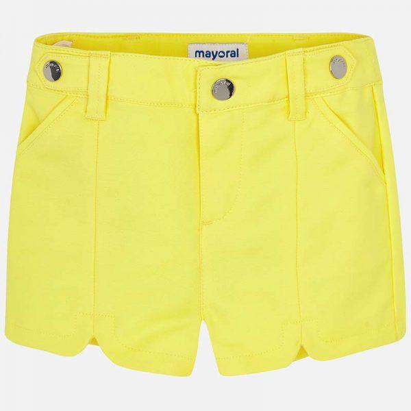 Žlté bavlnené kraťasy Mayoral | Welcomebaby.sk
