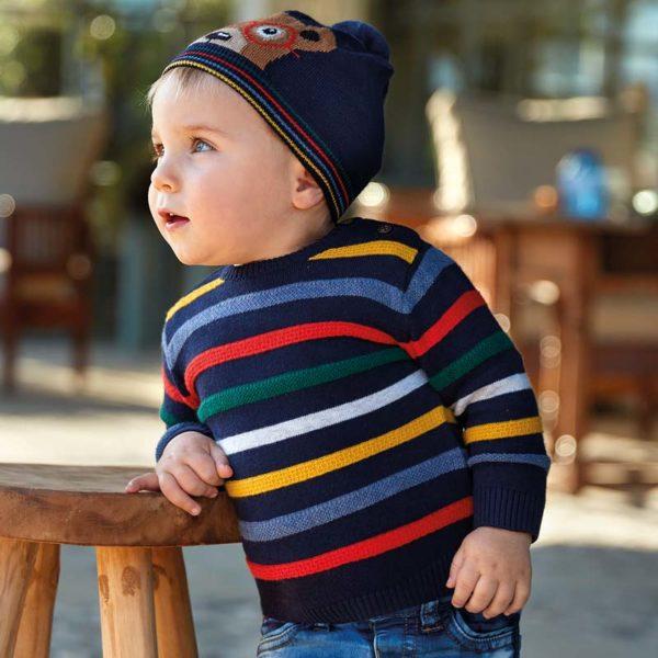 Chlapčenský pruhovaný sveter Mayoral | Welcomebaby.sk