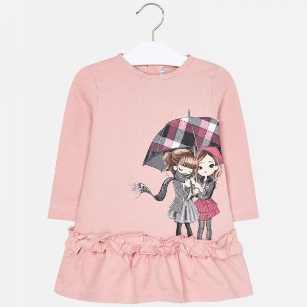 Šaty s dievčatkami z teplákoviny Mayoral | Welcomebaby.sk