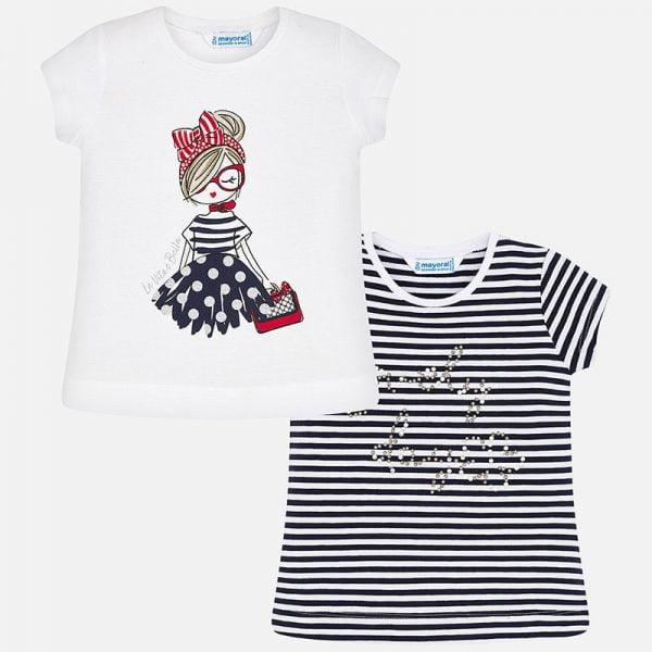 2pack dievčenských bavlnených tričiek Mayoral | Welcomebaby.sk