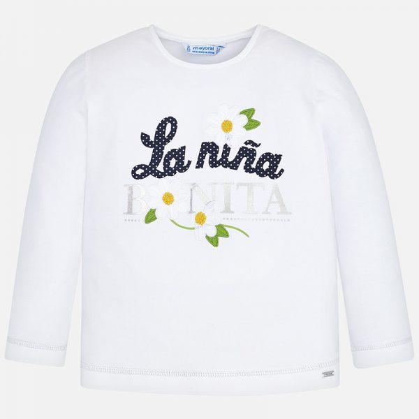 Bavlnené tričko s nápisom La niña bonita Mayoral | Welcomebaby.sk