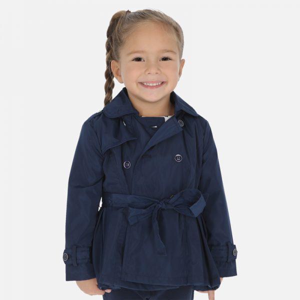 Dievčenský kabát/Trenchcoat Mayoral modrý | Welcomebaby