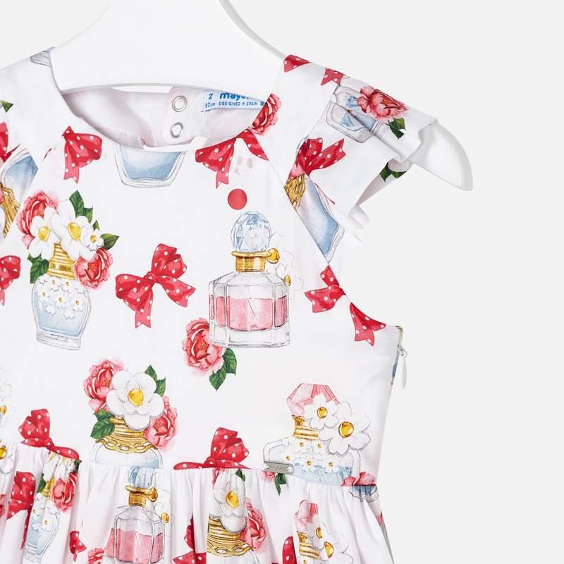 Bavlnené šaty potlač mašličiek Mayoral | Welcomebaby.sk
