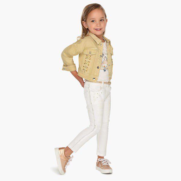 Nohavice pre dievča Mayoral biele | Welcomebaby.sk