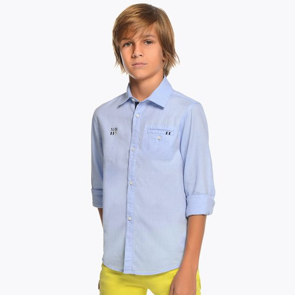 Chlapčenská košeľa Mayoral modrá | Welcomebaby.sk