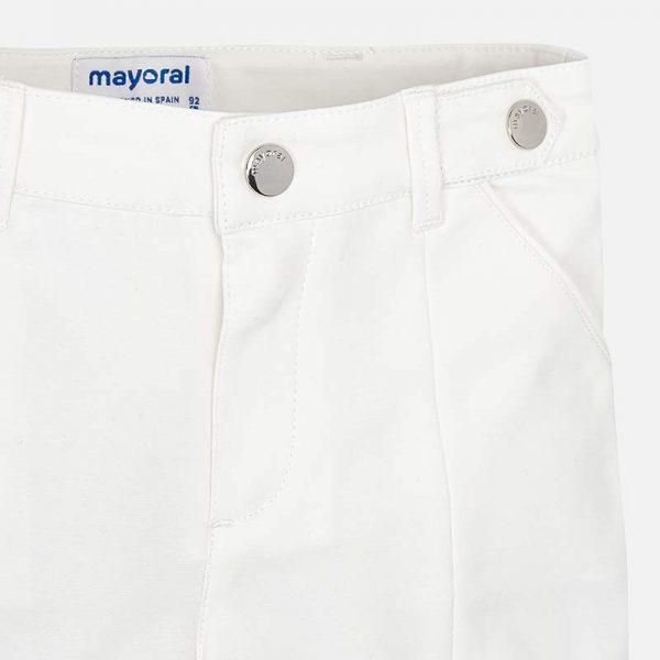 Bavlnené kraťasy biele Mayoral | Welcomebaby.sk