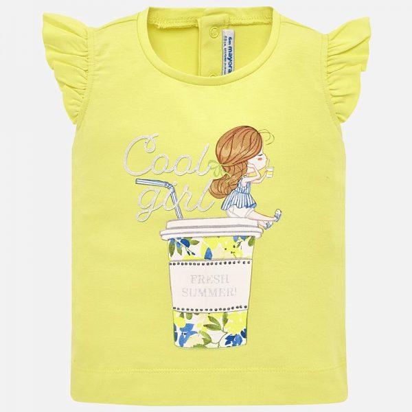 Bavlnené tričko s dievčatkom Mayoral | Welcomebaby.sk