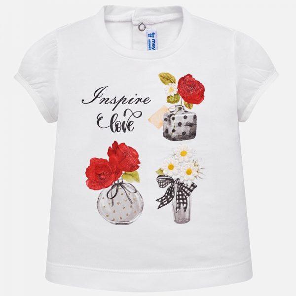 Bavlnené tričko s kvetmi Mayoral | Welcomebaby.sk
