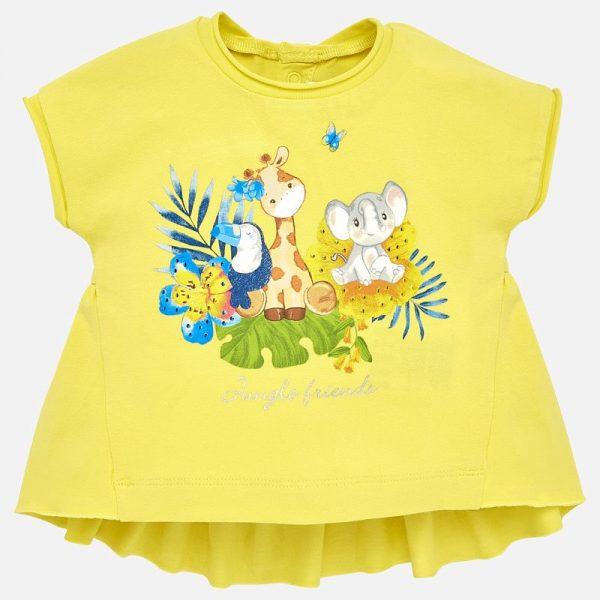 Bavlnené tričko Mayoral s motívom zvieratiek | Welcomebaby.sk