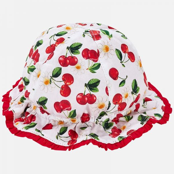 Bavlnený letný klobúčik s čerešňami Mayoral | Welcomebaby.sk
