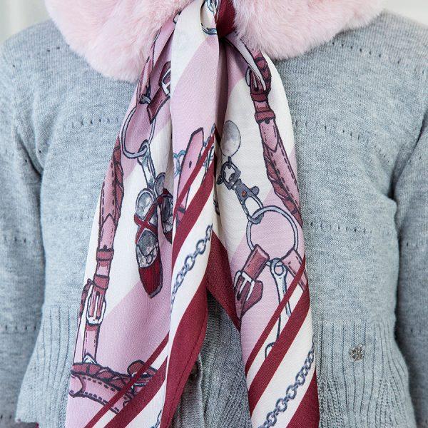 Kožušinový šál ružový Abel & Lula | Welcomebaby.sk