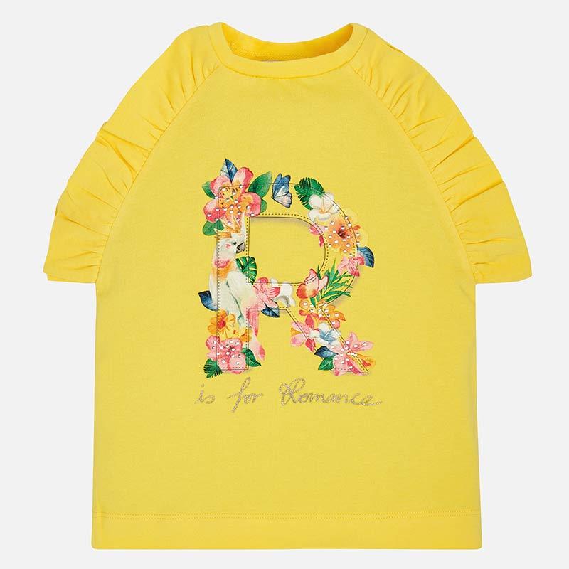 Bavlnené tričko Mayoral žlté | Welcomebaby.sk