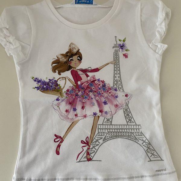 Dievcenske tricko Pariz biele | Welcomebaby.sk