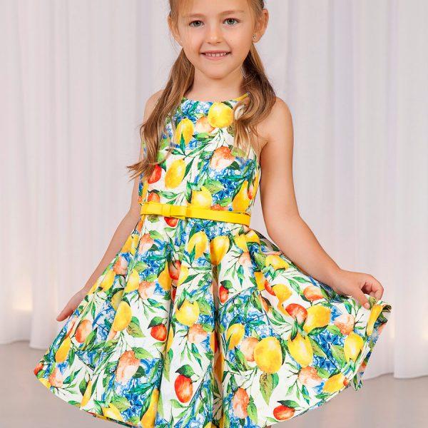 Šaty s citrónmi bez rukávov Abel & Lula | Welcomebaby.sk