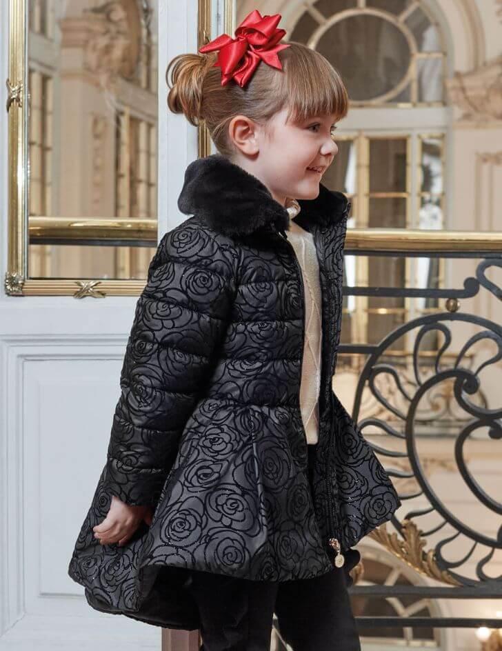 Čierna bunda Abel & Lula pre 6-ročné dievčatko | Welcomebaby.sk