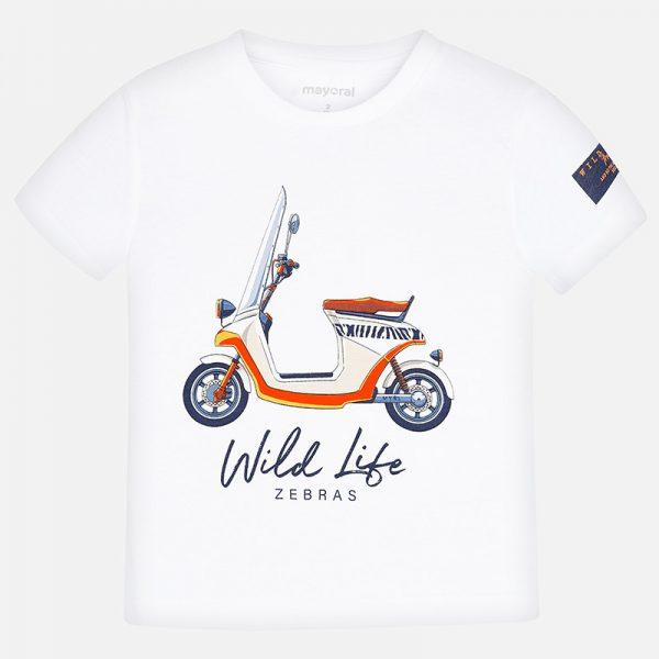 Bavlnené tričko s potlačou motorka Mayoral | Welcomebaby.sk