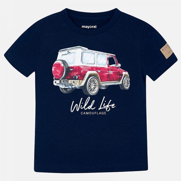 Bavlnené tričko s potlačou džíp Mayoral | Welcomebaby.sk