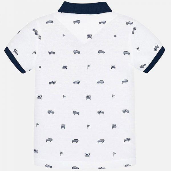 Chlapčenské polo tričko Mayoral potlač autá | Welcomebaby.sk