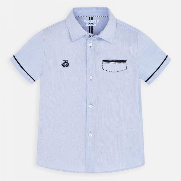 Bavlnená košeľa s krátkym rukávom Mayoral | Welcomebaby.sk