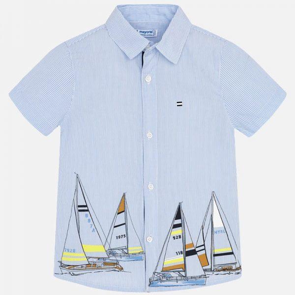Bavlnená košeľa s jachtami Mayoral | Welcomebaby.sk