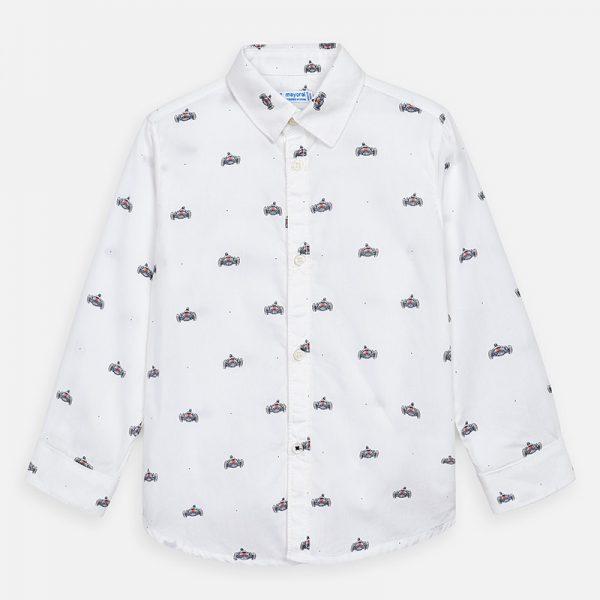 Bavlnená košeľa s potlačou auta Mayoral | Welcomebaby.sk