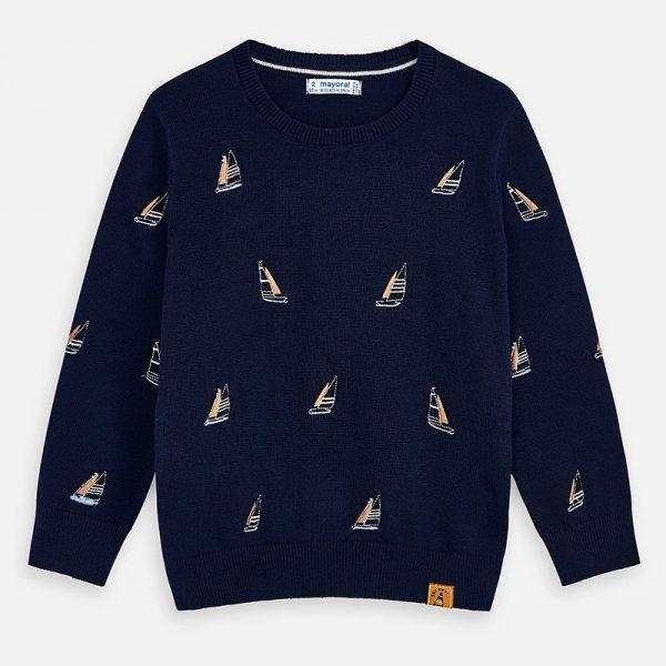 Bavlnený sveter s jachtami Mayoral | Welcomebaby.sk