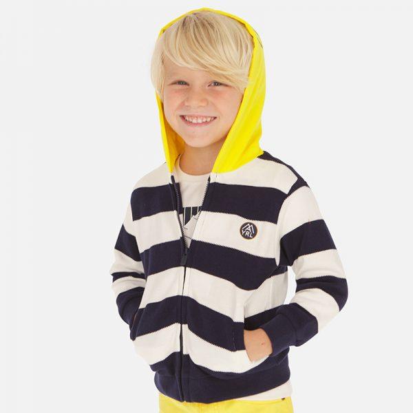 Bavlnený sveter na zips s kapucňou Mayoral | Welcomebaby.sk