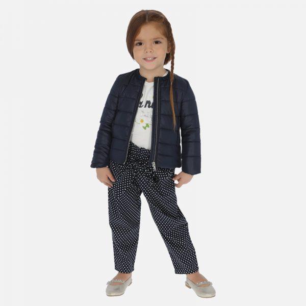 Dievčenské bavlnené bodkované nohavice Mayoral | Welcomebaby.sk