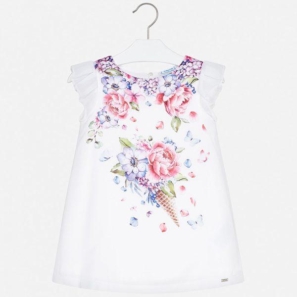 Saténové šaty s fialovými kvetmi | Welcomebaby.sk