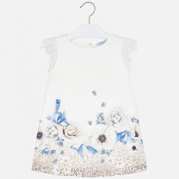 Saténové šaty s modrými kvetmi   Welcomebaby.sk