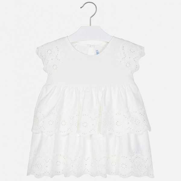 Bavlnené šaty s výšivkou Mayoral | Welcomebaby.sk