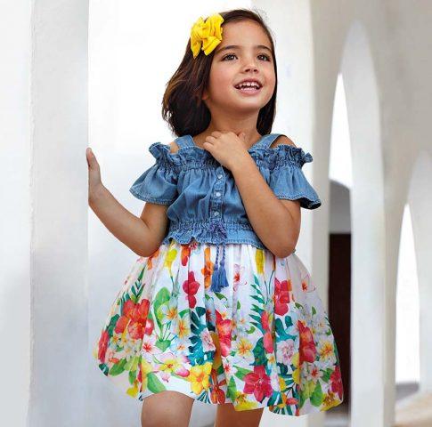 Dievčenské šaty Mayoral | Welcomebaby.sk
