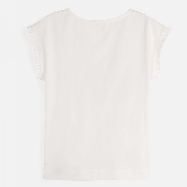 Bavlnené tričko s nápisom Paríž krémové Mayoral | Welcomebaby.sk