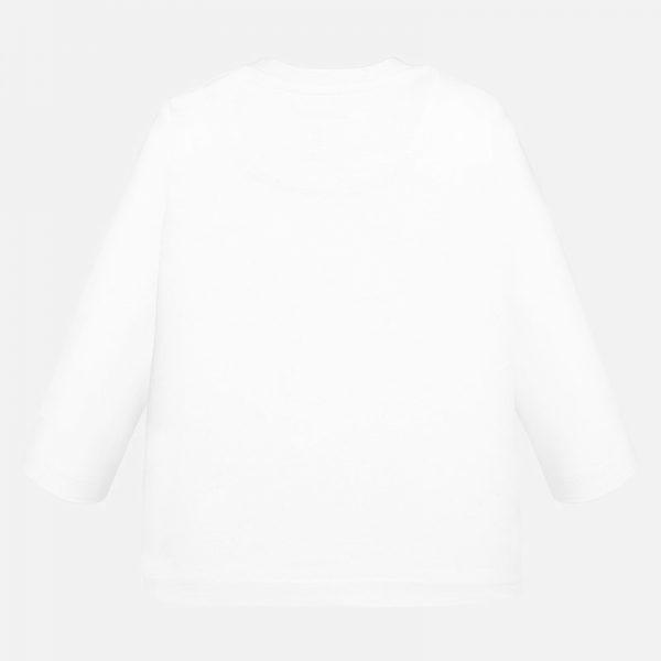 Chlapčenské tričko s potlačou Medveď v zime Mayoral biele | Welcomebaby.sk