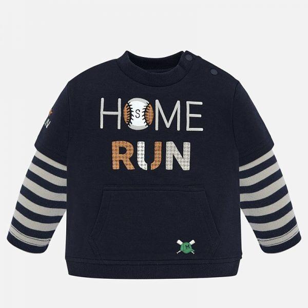 Chlapčenská mikina s nápisom Home Run Mayoral tmavomodrá | Welcomebaby.sk
