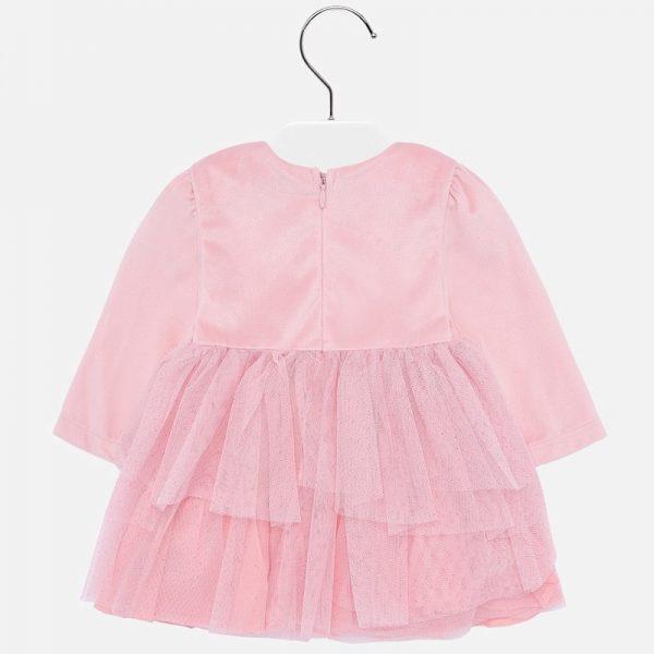 Sametové šaty s mašľou Mayoral ružové| Welcomebaby.sk