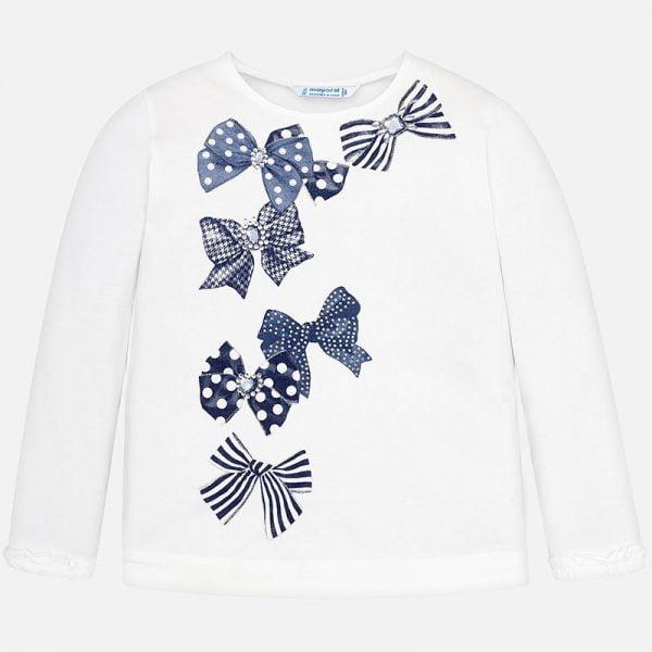 Dievčenské tričko s mašličkami Mayoral | Welcomebaby.sk