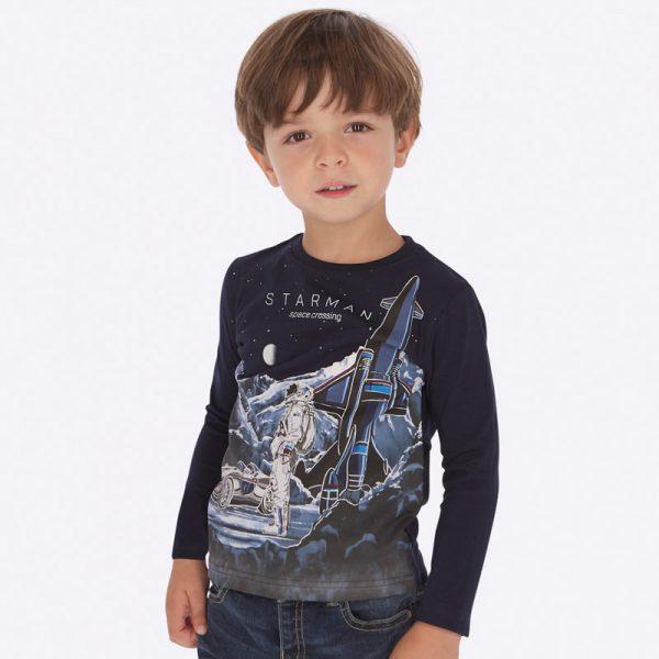 Chlapčenské tričko s potlačou Vesmír a nápisom Starman Mayoral | Welcomebaby.sk