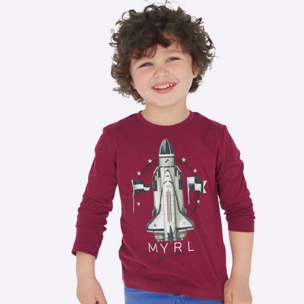 Chlapčenské tričko potlač raketa Mayoral | Welcomebaby.sk
