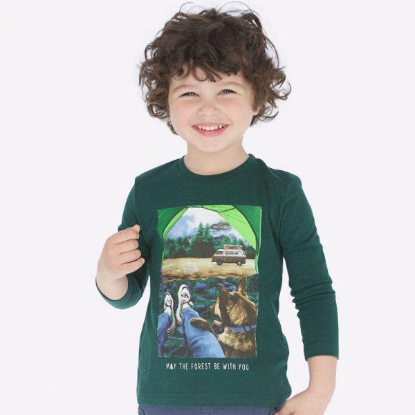 Chlapčenské tričko s potlačou Les Mayoral zelené | Welcomebaby.sk