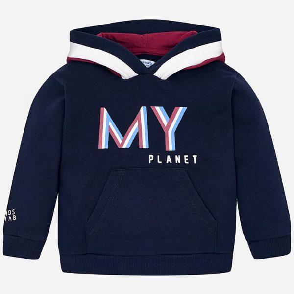 Chlapčenská mikina s kapucňou a nápisom My Planet Mayoral | Welcomebaby.sk
