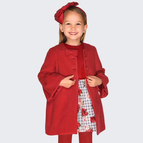 Šaty s kvetmi Mayoral červené | Welcomebaby.sk