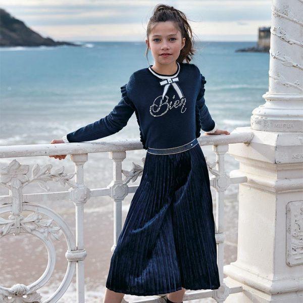 Dievčenské tričko s mašľou pri krku Mayoral | Welcomebaby.sk