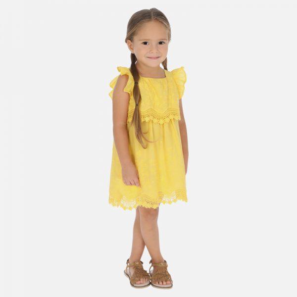 Vyšívané šaty Mayoral žlté | Welcomebaby.sk