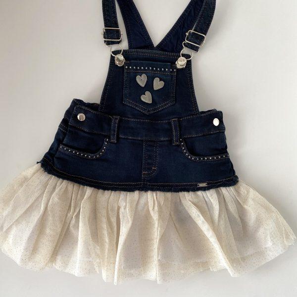Rifľové šaty na traky Mayoral krémové | Welcomebaby.sk