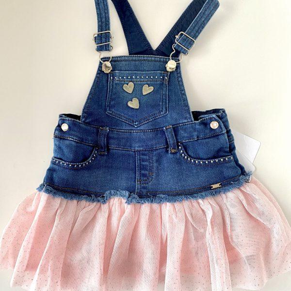 Rifľové šaty na traky Mayoral ružové | Welcomebaby.sk