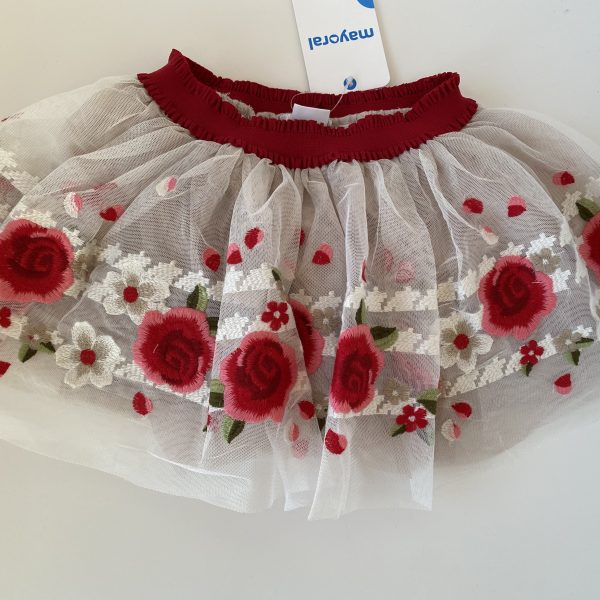 Tylová sukňa s ružami Mayoral | Welcomebaby.sk