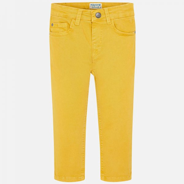 Chlapčenské žlté nohavice Mayoral | Welcomebaby.sk