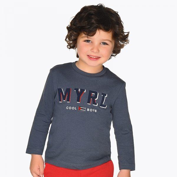 Chlapčenské tričko s nápisom MYRL Cool Boys Mayoral sivé | Welcomebaby.sk